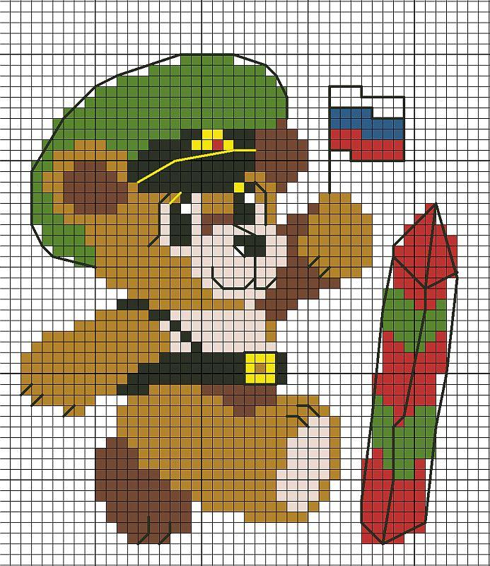 Схема вышивки крестом солдат 31